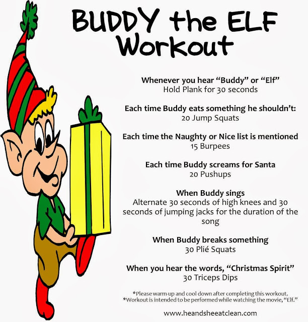 buddy the elf workout