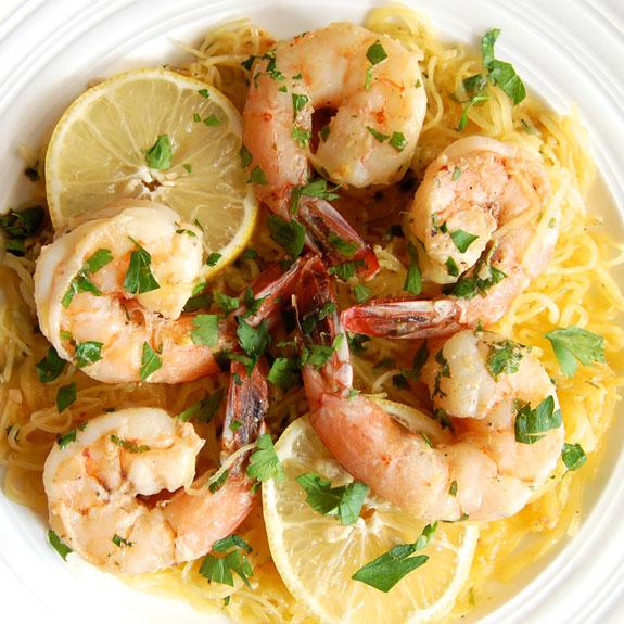 spaghettisquashshrimpscampi