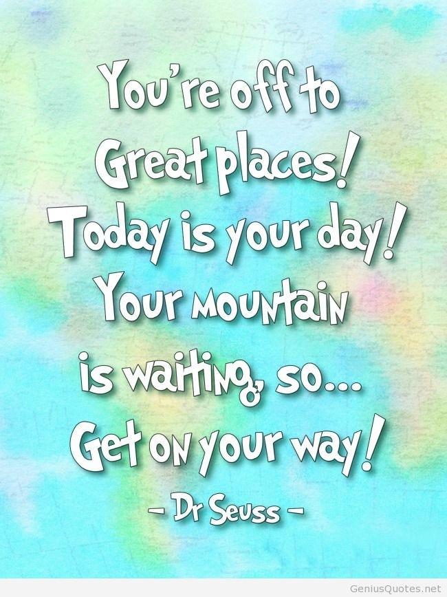 Dr. Seuss Quotes with Day
